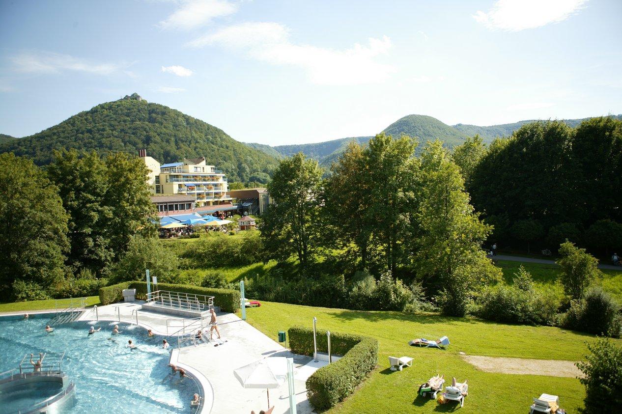 Biosphere reserve hotel Graf Eberhard in Bad Urach with AlbThermal bath
